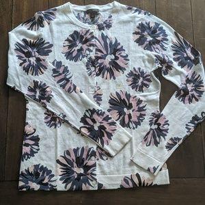Ann Taylor cardigan floral NWOT